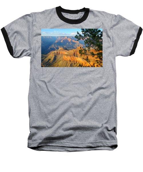 Grand Canyon South Rim - Pine At Right Baseball T-Shirt