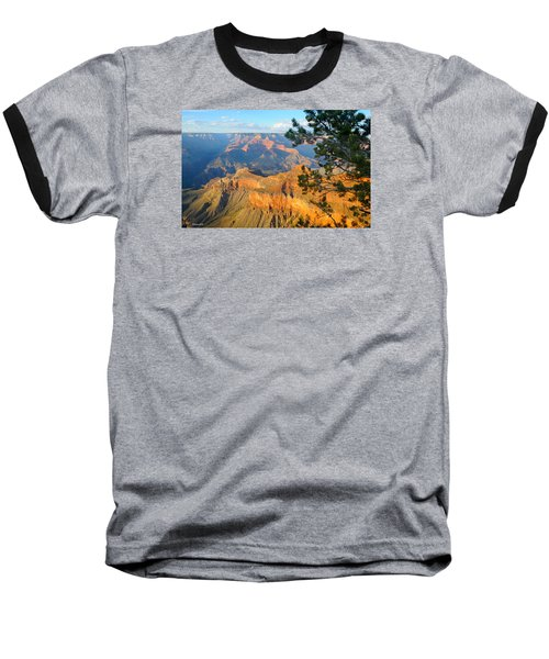 Grand Canyon South Rim - Pine At Right Baseball T-Shirt