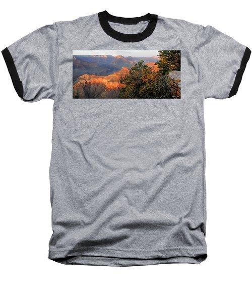 Grand Canyon South Rim - Red Berry Bush Along Path Baseball T-Shirt