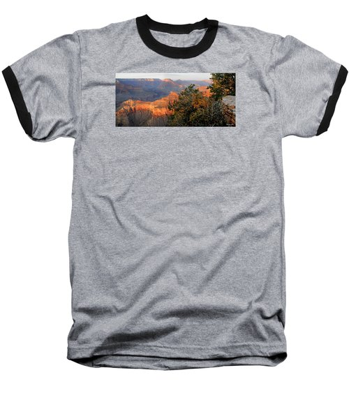 Grand Canyon South Rim - Red Berry Bush Along Path Baseball T-Shirt