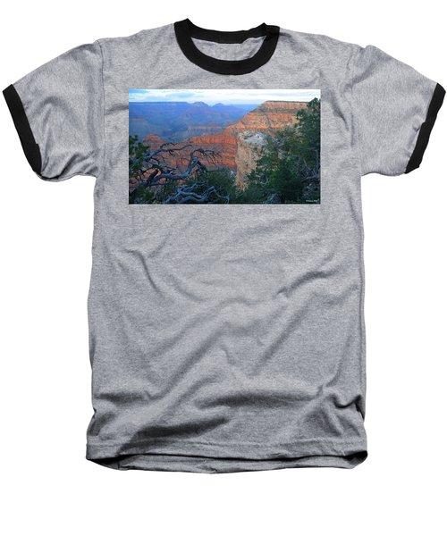 Grand Canyon South Rim - Red Hues At Sunset Baseball T-Shirt