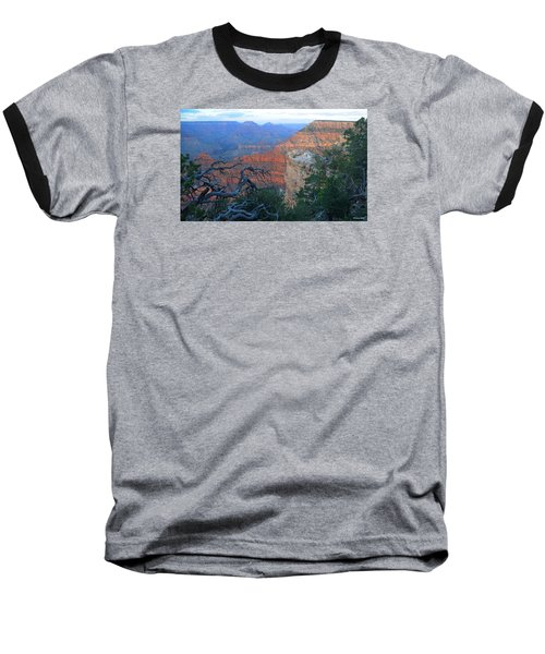 Grand Canyon South Rim - Red Hues At Sunset Baseball T-Shirt