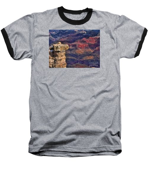 Baseball T-Shirt featuring the photograph Grand Canyon Stacked Rock by Roberta Byram