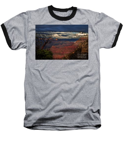 Grand Canyon Storm Clouds Baseball T-Shirt by John A Rodriguez