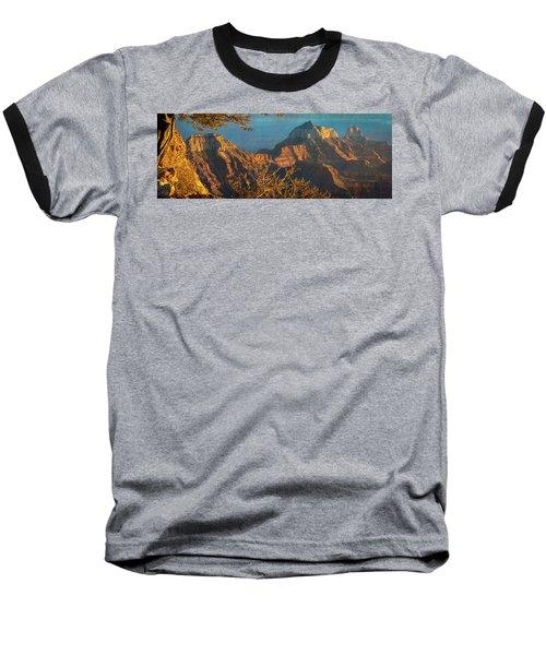 Grand Canyon Sunset Panorama Baseball T-Shirt