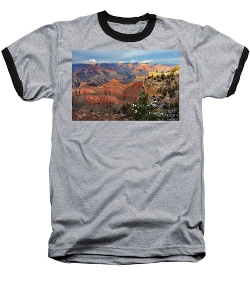Grand Canyon View Baseball T-Shirt by Debby Pueschel
