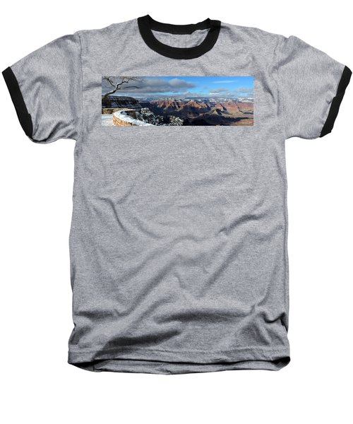 Grand Canyon Winter Vista Baseball T-Shirt