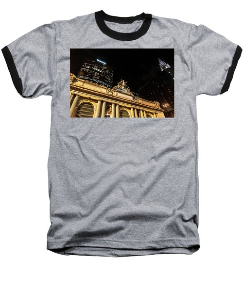 Grand Central Nocturne Baseball T-Shirt by Steven Richman