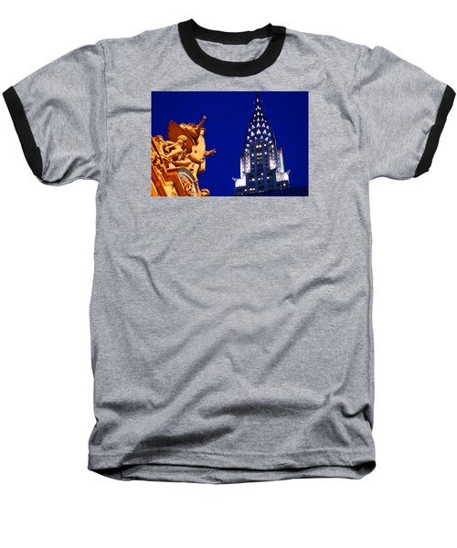 Grand Central Station And Chrysler Building Baseball T-Shirt