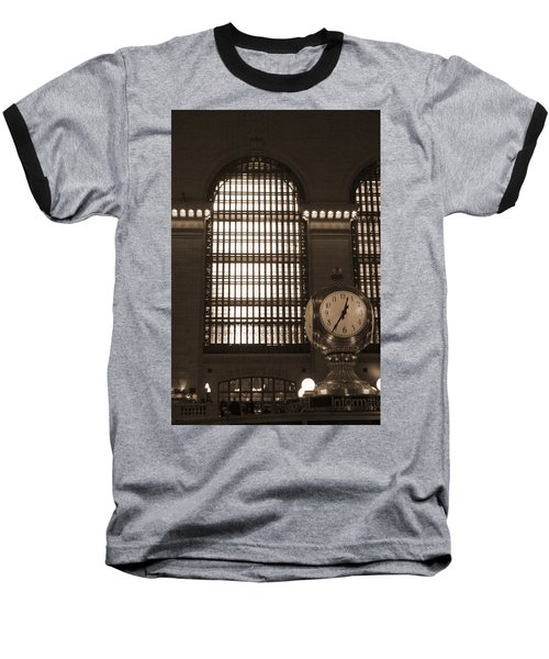 Grand Central Station Baseball T-Shirt by Henri Irizarri
