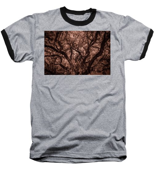 Baseball T-Shirt featuring the photograph Grand Daddy Oak Tree In Infrared by Louis Ferreira
