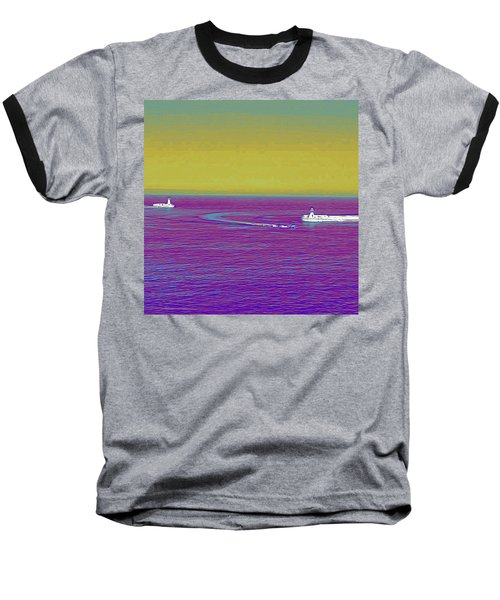 Purple Sea Baseball T-Shirt