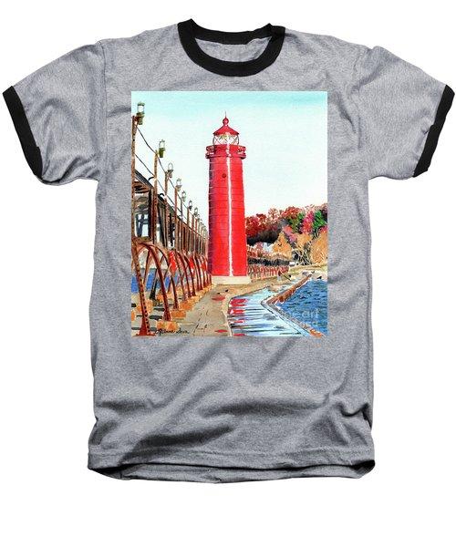 Grand Haven Autumn Baseball T-Shirt by LeAnne Sowa