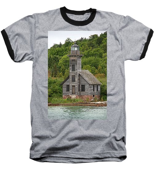 Baseball T-Shirt featuring the photograph Grand Island East Channel Lighthouse #6664 by Mark J Seefeldt