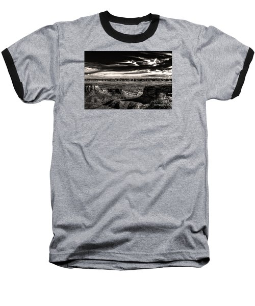 Baseball T-Shirt featuring the digital art Grand Junction In The Valley Below   by William Fields
