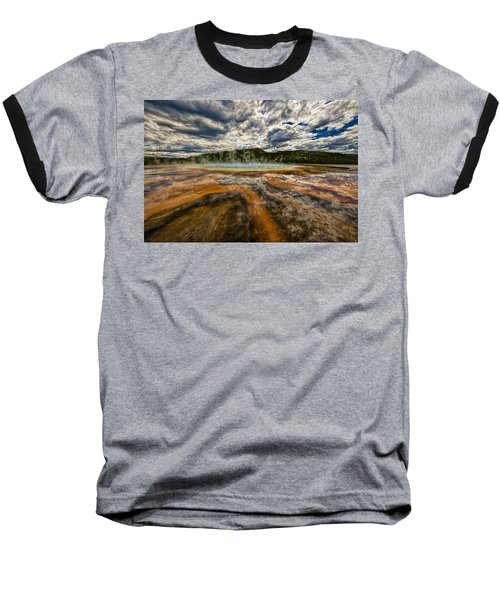 Grand Prismatic Spring Baseball T-Shirt