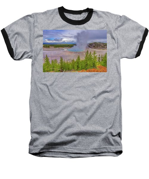 Grand Prismatic Spring Overlook Yellowstone Baseball T-Shirt