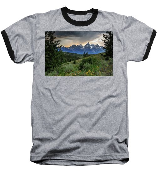Baseball T-Shirt featuring the photograph Grand Stormy Sunset by David Chandler