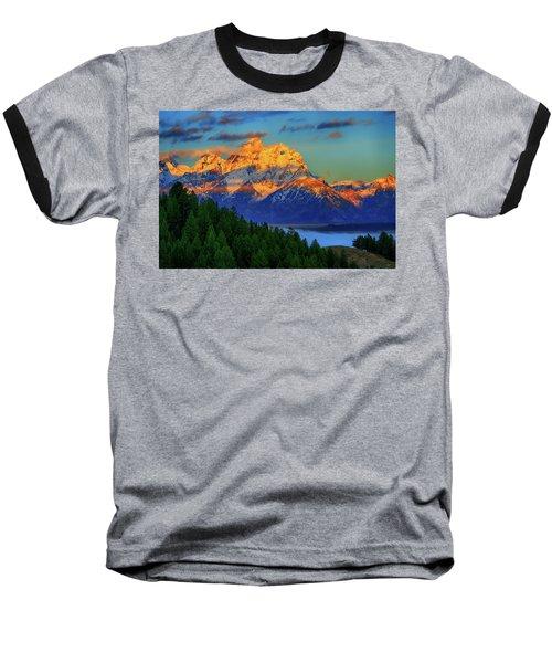 Grand Teton Alpenglow Baseball T-Shirt
