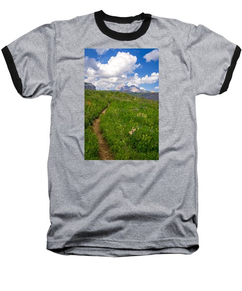 Baseball T-Shirt featuring the photograph Grand Teton Scenic Hiking Path by Serge Skiba