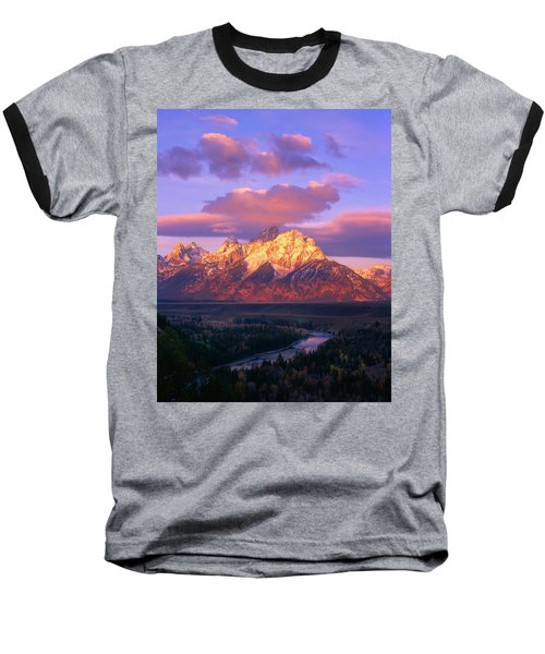 Grand Teton Sunrise Baseball T-Shirt