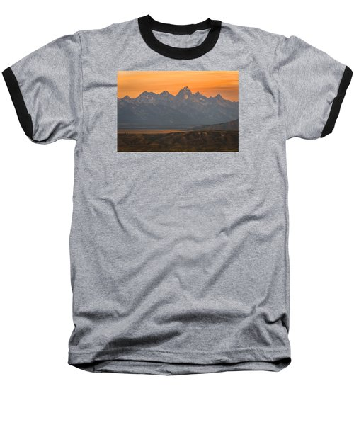 Baseball T-Shirt featuring the photograph Grand Teton Sunset by Serge Skiba
