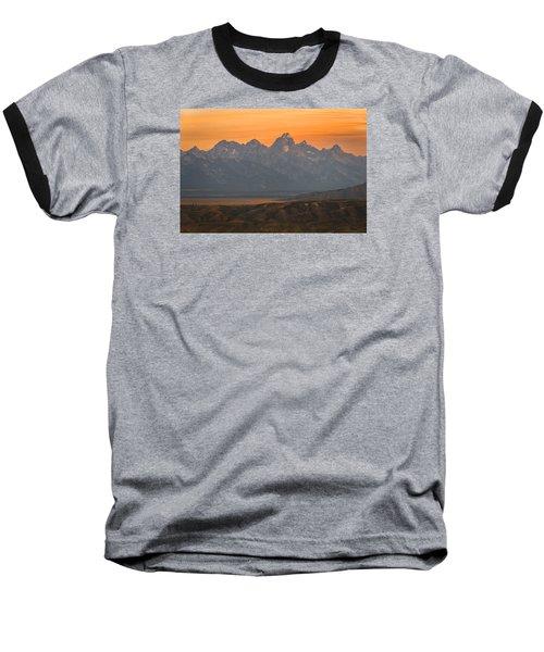 Grand Teton Sunset Baseball T-Shirt