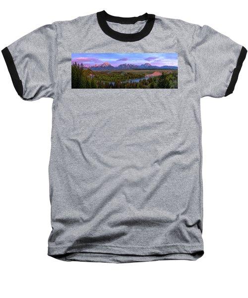 Grand Tetons Baseball T-Shirt by Chad Dutson