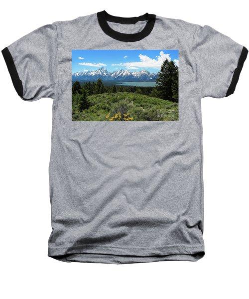 Grand Tetons Baseball T-Shirt
