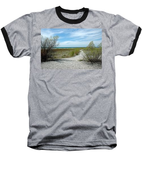 Baseball T-Shirt featuring the photograph Grand Traverse Bay Path by LeeAnn McLaneGoetz McLaneGoetzStudioLLCcom