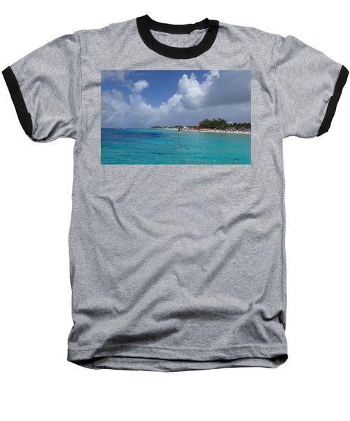 Grand Turk Beach Baseball T-Shirt by Lois Lepisto