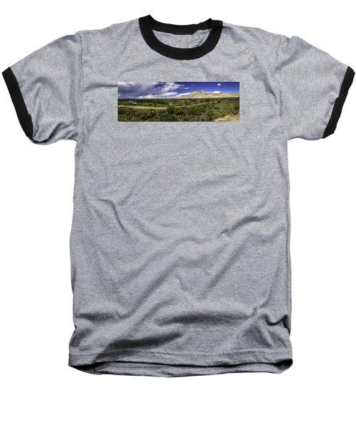 Grand Valley Panoramic Baseball T-Shirt by Teri Virbickis