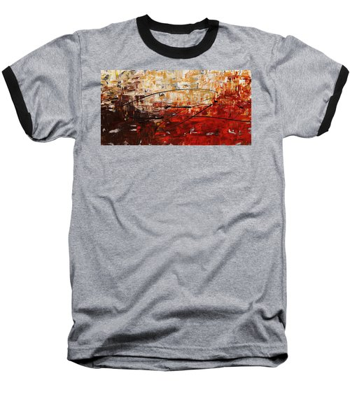 Baseball T-Shirt featuring the painting Grand Vision by Carmen Guedez