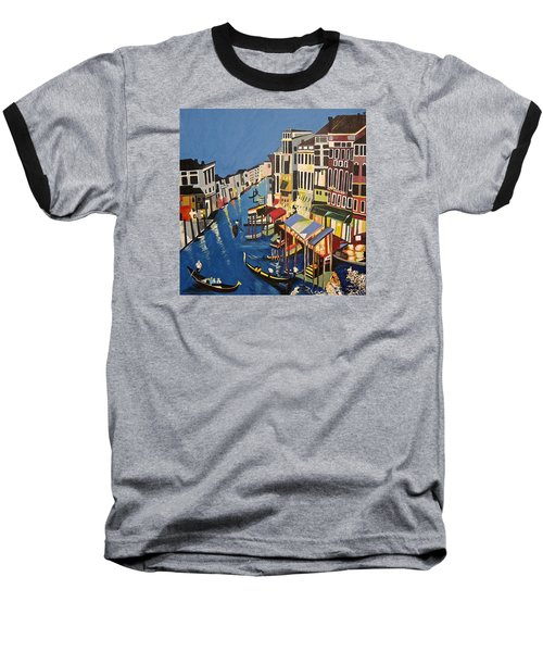 Grande Canal Baseball T-Shirt by Donna Blossom