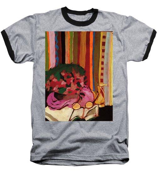 Baseball T-Shirt featuring the pastel Grandma's Glasses by Manuela Constantin