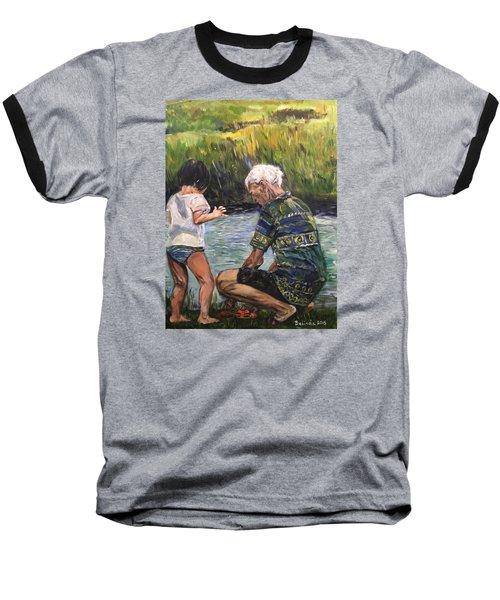 Grandpa And I Baseball T-Shirt by Belinda Low