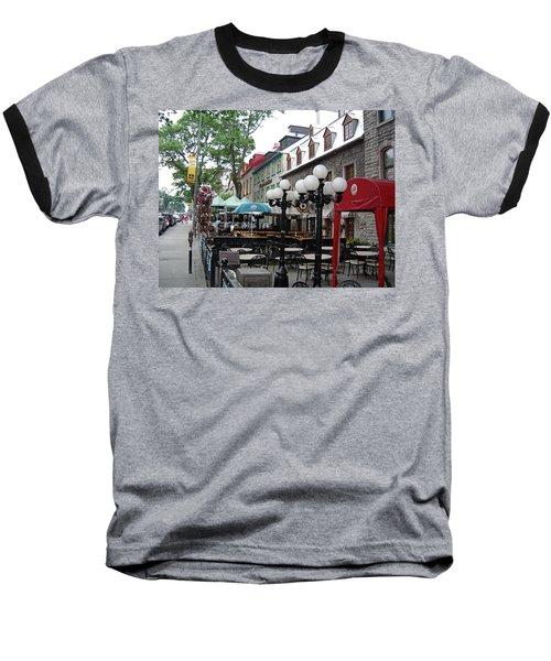Baseball T-Shirt featuring the photograph Grande Allee Est by John Schneider