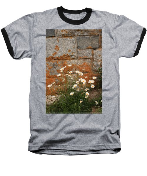Granite Daisies Baseball T-Shirt