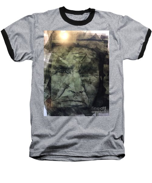 Granite Faces Of Men And Mountains Baseball T-Shirt