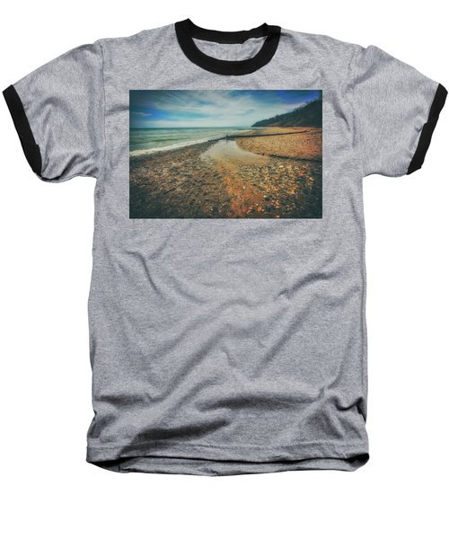 Baseball T-Shirt featuring the photograph Grant Park - Lake Michigan Beach by Jennifer Rondinelli Reilly - Fine Art Photography