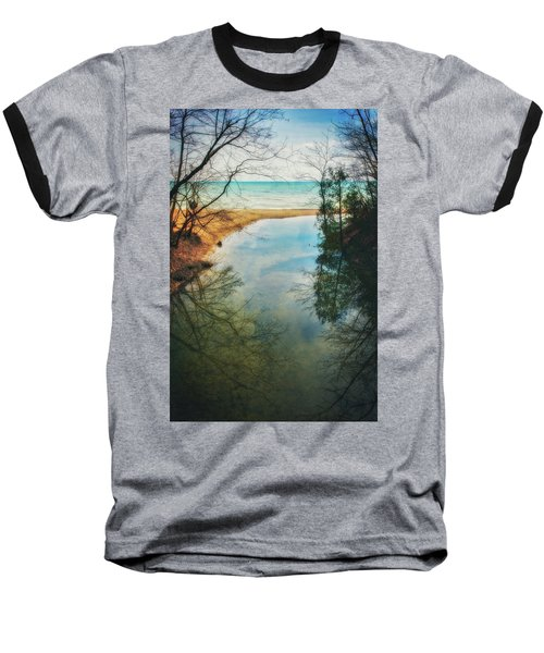 Baseball T-Shirt featuring the photograph Grant Park - Lake Michigan Shoreline by Jennifer Rondinelli Reilly - Fine Art Photography