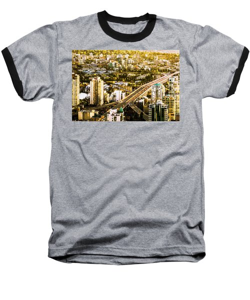 Granville Street Bridge Vancouver British Columbia Baseball T-Shirt