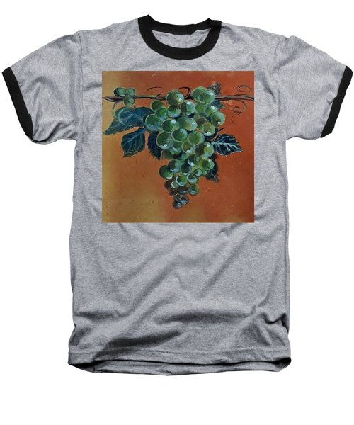 Grape Baseball T-Shirt by Andrew Drozdowicz