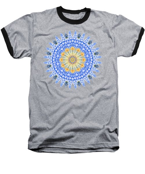 Grape Hyacinth Mandala Baseball T-Shirt
