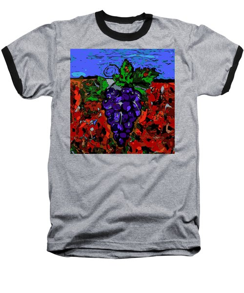 Grape Jazz Digital Baseball T-Shirt