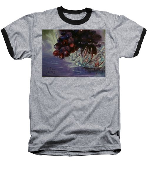 Grapes And Glass Baseball T-Shirt