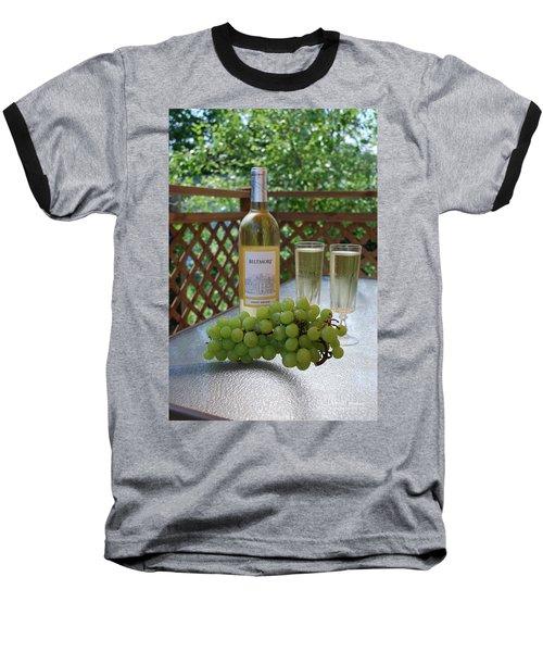 Grapes And Wine Baseball T-Shirt