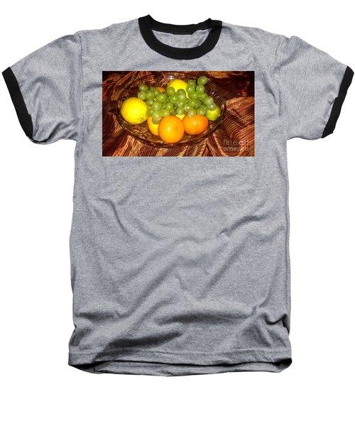 Grapes, Lemons, Mandarins And Lime  Baseball T-Shirt