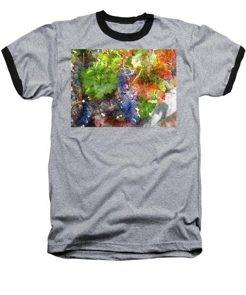 Grapes On The Vine In The Autumn Season Baseball T-Shirt