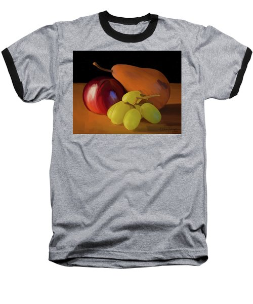 Grapes Plum And Pear 01 Baseball T-Shirt by Wally Hampton